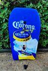 "VTG 90's Corona Beer Tiki Bar Pub Man Cave Decor 40"" Boogie Body Board w/ Leash"