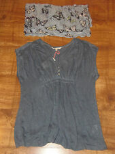 BNWT Stunning White Stuff 100% Linen Knit Top 8-12 & NEW Butterfly Scarf/Snood