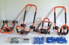 2 Sets Tangy Orange Roof Mounted Folding Kayak J-Style Racks PK-KR FOLD ORANGE2