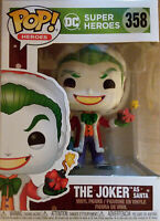 Funko Pop! DC Super Heroes #358 The Joker As Santa Vinyl Figure New