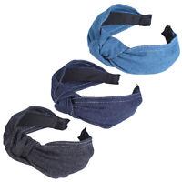 Ladies Fabric Knot Headband Head Band Denim Hairband Headwear Hair Accessories