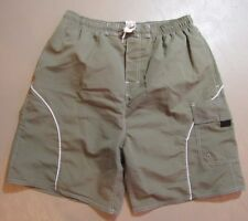 Revens Sports Swimsuit M Swim Trunks Swimming Men's Medium Drab Green Cargo