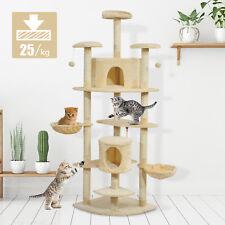 Árbol para gatos Rascador Grande con Nidos Plataformas Casetas Bolas de Juego