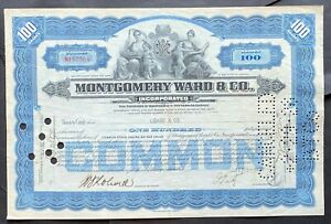 "MONTGOMERY WARD & CO Stock 1928. Chicago, IL. Est. 1872 Aaron Ward's ""Wish Book"""