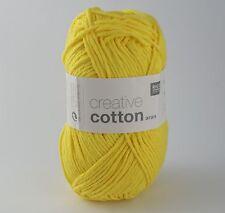 Rico Creative Cotton Aran -  Cotton Knitting & Crochet Yarn - Banana 68