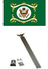 3x5 U. S. ARMY VERDE JUBILADO BANDERA CON / 1.8m M ALUMINIO ASTA DE KIT Eagle