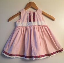 HANNA ANDERSSON Pink Dutch Girl Sleeveless Lined Dress Size 80 18-24 mo.