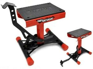 OUTILLAGE Paddock Stand Cross Lève-moto - Rouge (040010)