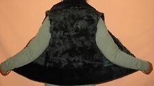 Stylish Green Sheared Mink & Lamb Fur Vest Jacket Size 2-4 Excell Cond FREE SHIP