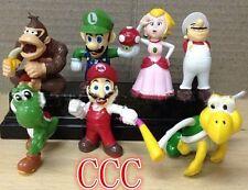 Neuf Lot 7 Super Mario bros mini figures Figurine Toy Doll Livraison gratuite