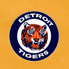 1970's OLD DETROIT TIGERS LOGO 3 inch DECAL STICKER Unused Team Stock