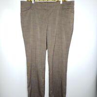 7th Avenue Women's Dark Brown Dress Pants Flare Career Size 16