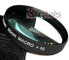 55mm MACRO + 10 objetivo FILTRO no.10 DSLR SLR Película digital Cine Cámara