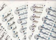 CCCP URSS La Série Bateaux de peche sur 5 feuilles de 30 TP 1983