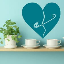 Mended Love Heart Wall Sticker / Giant Wall Decal / Love Heart Transfer  LO21