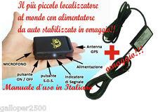 LOCALIZZATORE TRACKER GPS TK 102 OMAGGIO CAVO ORIGINALE BATTERIA STABILIZZATO