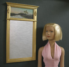"""TRUMEAU  MIRROR ~ For 16""""  TYLER  DOLL  ~ Furniture ~ 1:4 scale ~ Landscape"""