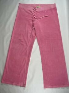 Juicy Couture Pink Terry Cloth Pants Size Large Y2K Style Tracksuit Pants only