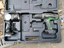 HITACHI Set: Akkuschrauber 18V + Lampe im Koffer (ohne  Akku + Ladegerät)