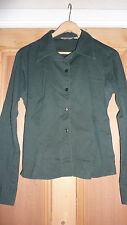 ZARA Tailored Shirt UK 10 Small CYPRESS GREEN Designer Hip Chic RARE LTD FAB!!!
