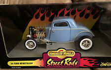 NOS ERTL American Muscle 1934 Ford 3-Window Coupe '34 FLATHEAD RACE Street Rod