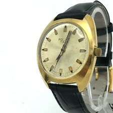 Vintage POLJOT Watch USSR Gold Plated Russian AU10 Mechanical Soviet Serviced