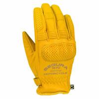 Segura Cassidy Motorbike Motorcycle Leather Gloves Beige