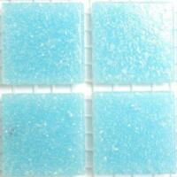75 Matte Sea Teal Vitreous Glass Mosaic 20mm Tiles A63