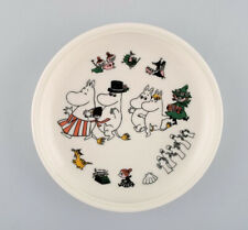 """Arabia, Finland. Porcelain plate with motif from """"Moomin"""".  Late 20th century."""