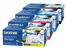 4 ORIGINALE TONER BROTHER TN-135 CMYK HL-4070CDW MFC-9840 MFC-9440CN DCP-9042CDN