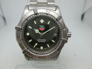 TAG HEUER 2000 SERIES STAINLESS STEEL  AUTOMATIC FULLSIZE MENS DIVER WATCH