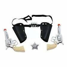 Western Toy Cowboy Gun & Holster Set with Sheriff Badge and Belt