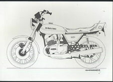 Kawasaki 750 H2 73 B/W. Dessin/Imprimé H2A ne pas brochure La Vitesse