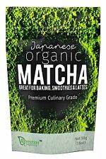 Premium Japanese Organic Matcha Green Tea Powder 50g - Direct From Nishio, Japan