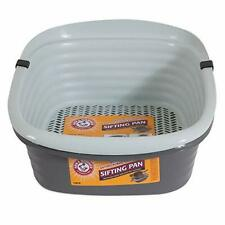 Large Litter Tray  Cat Self Sifting Box Clean Slotted Tray System Strong Locking