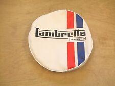 """LAMBRETTA  SPARE WHEEL COVER  """"WHITE WITH LOGO"""" - BRAND NEW"""