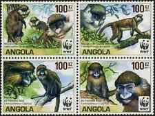 Timbres Animaux Singes Angola 1673/6 ** année 2011 lot 9246 - cote : 14 €