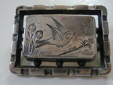 Antique Victorian Era Sterling Silver Barn Swallow Pin/ Brooch