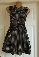 Party Skater dress with Gold Polka dots Small Uk6-8 NWOT