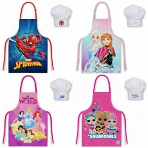Kids Apron Chef Hat Set Childrens Cooking Baking Aprons For Boys Girls