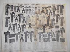 affiche ancienne mode - fourrure - hiver 1913 - 1914 ( ref 21 )