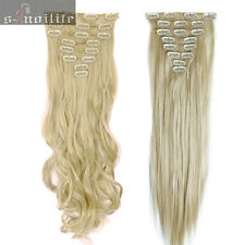 8Pcs/Set Clip in Hair Extensions Extension Real Natural as human hairpiece HG95