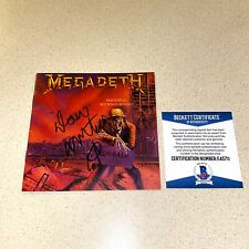 DAVE MUSTAINE signed autographed CD BOOKLET PEACE SELLS MEGADETH BECKETT