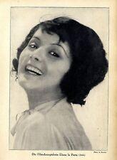 Elizza la Porta ( Aafa ) Filmschauspielerin Historische Aufnahme von 1928