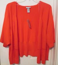 Orange Shrug Sweater Size 5X 34 36W Bolero Catherines NWT MSRP $56 Rayon Blend