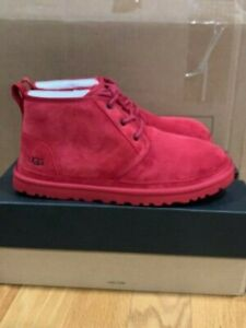 NEW IN BOX UGG MENS SAMBA RED NEUMEL BOOTS PICK SIZE FREE SHIPPING!!