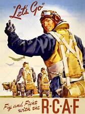 PROPAGANDA WAR WWII CANADA RCAF FLY FIGHT PILOT FINE ART PRINT POSTER BB7172B
