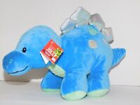 Dinosaur Stuffed Plush Blue Stegosaurus 11.5 Inches