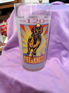 1995 Preakness Stakes 120th Pimlico Horse Race Souvenir Glass - Baltimore, MD