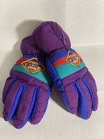 Vintage Retro 80's 90's THINSULATE Winter Ski Gloves Girls Youth Age 4-5
